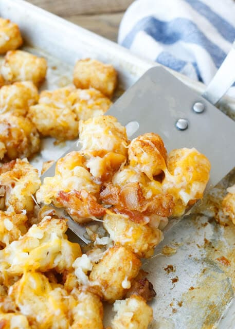 Cheesy Bacon Tater Tots {Barefeet in the Kitchen}
