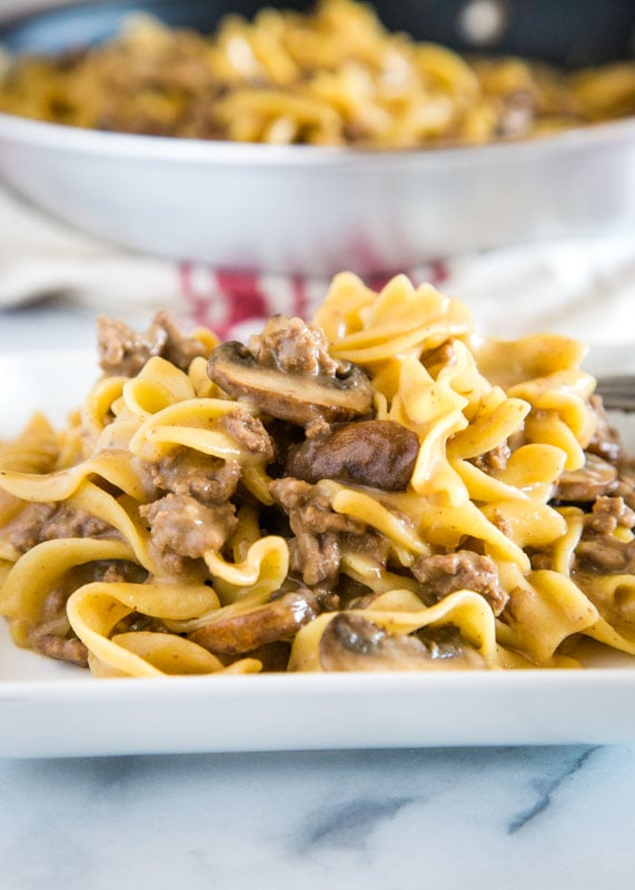Easy beef stroganoff that is ready in minutes