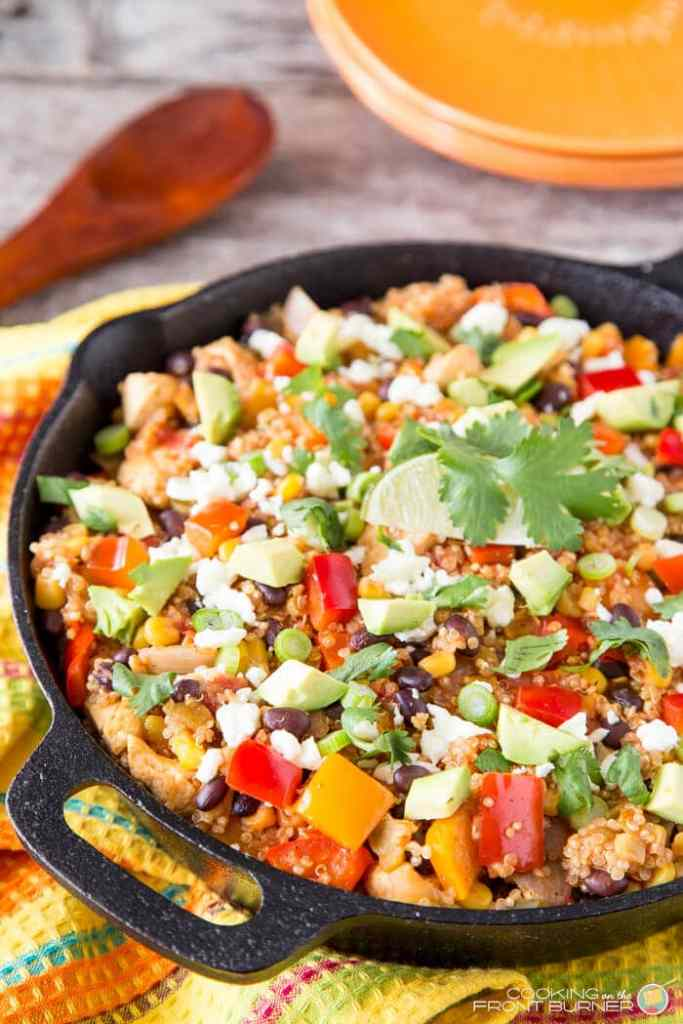 Quinoa Mexican Skillet Dinners {Cooking on the Front Burners}