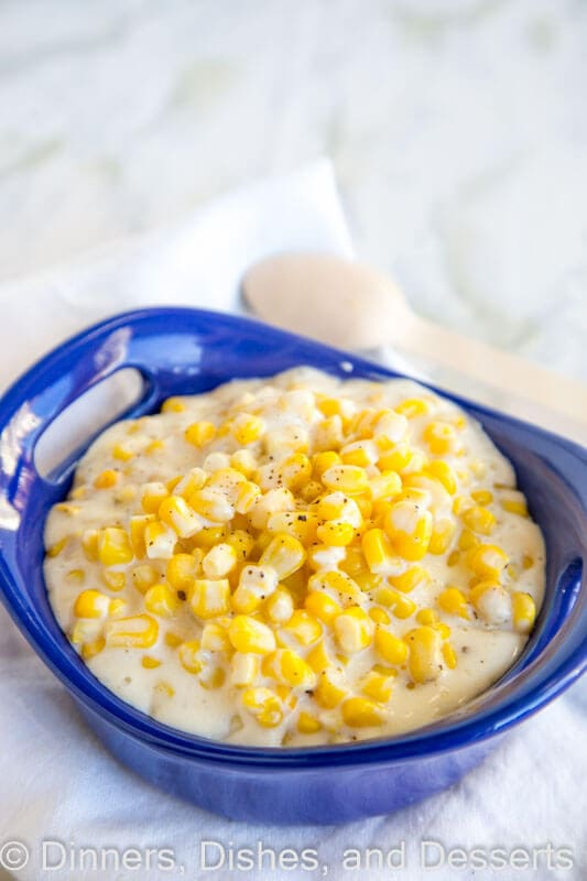 Slow Cooker Cream Corn - dress up your side dishes with this cream corn. So much better than any canned stuff you can find.