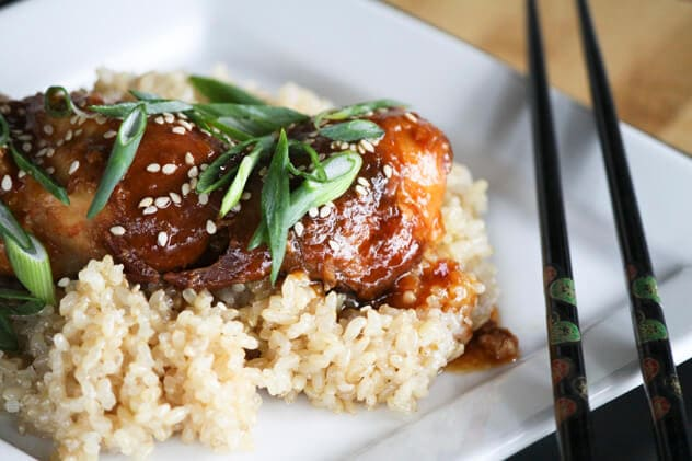 Slow Cooker Honey Sesame Chicken {Foodie with Family}