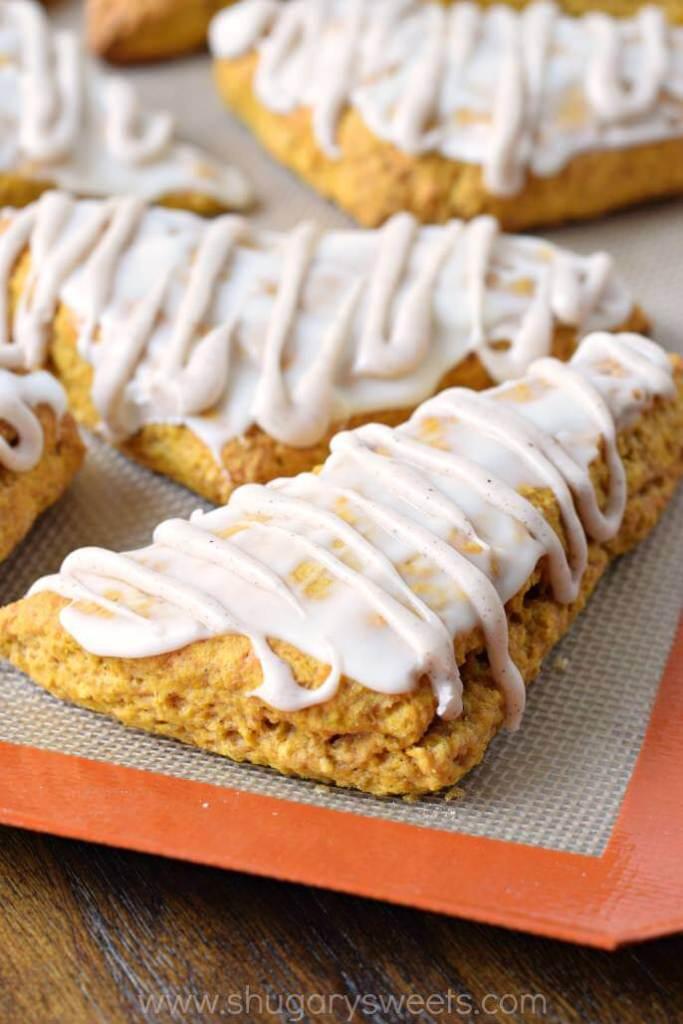 Pumpkin Scones {Shugary Sweets}