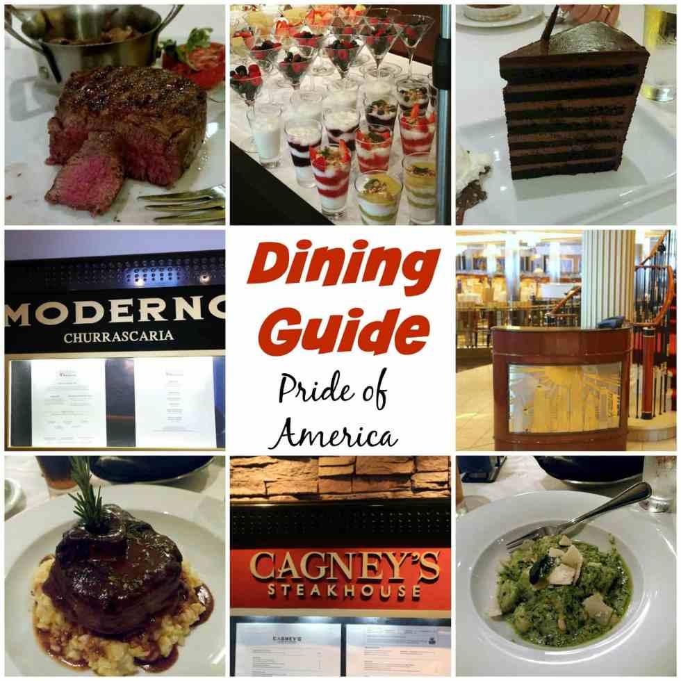 Dining Guide Pride of America