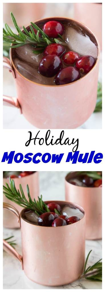 Holiday Moscow Mule - a festive Cranberry Moscow Mule cocktail that is perfect for all of your holiday entertaining.