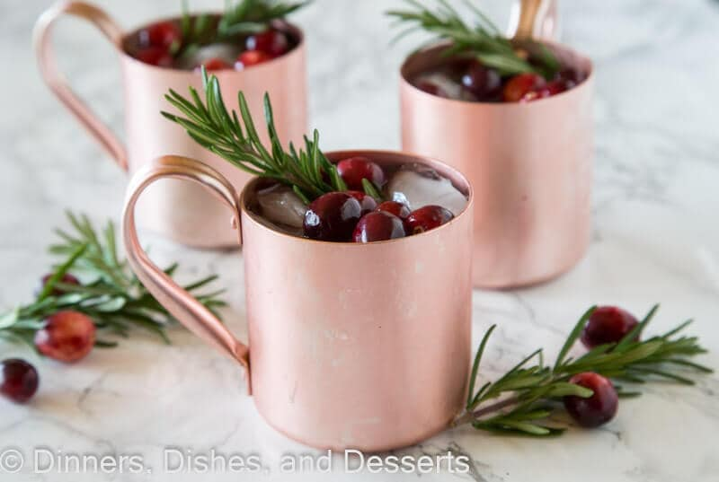 Holiday Moscow Mule - a festive Moscow Mule cocktail that is perfect for all of your holiday entertaining.