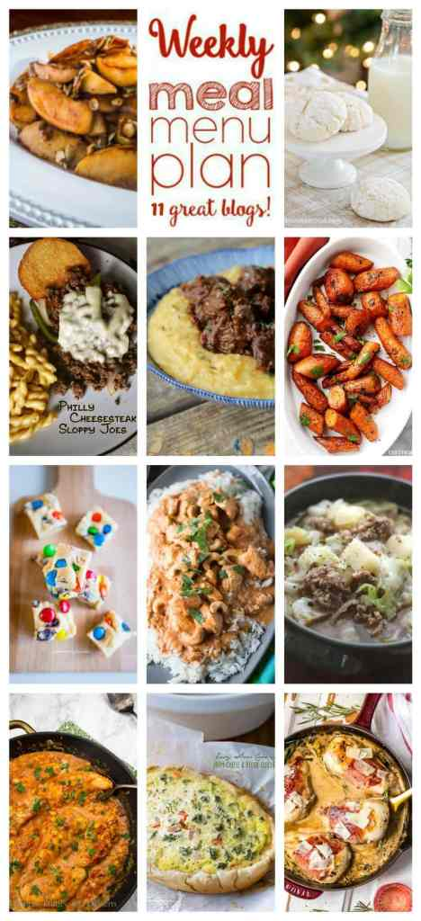 A bunch of different types of food, with Dinner