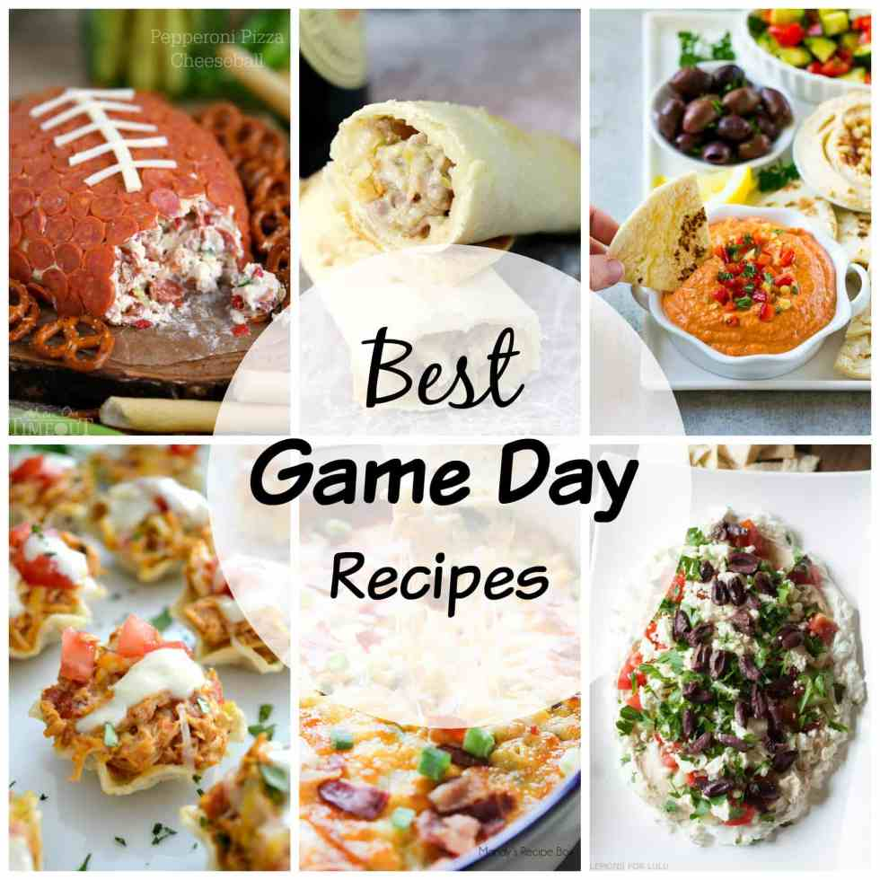 Game Day Recipes - 20 recipes that will have your game day party guests happy! Everything you need to have a great game day party, even if your team isn't playing!