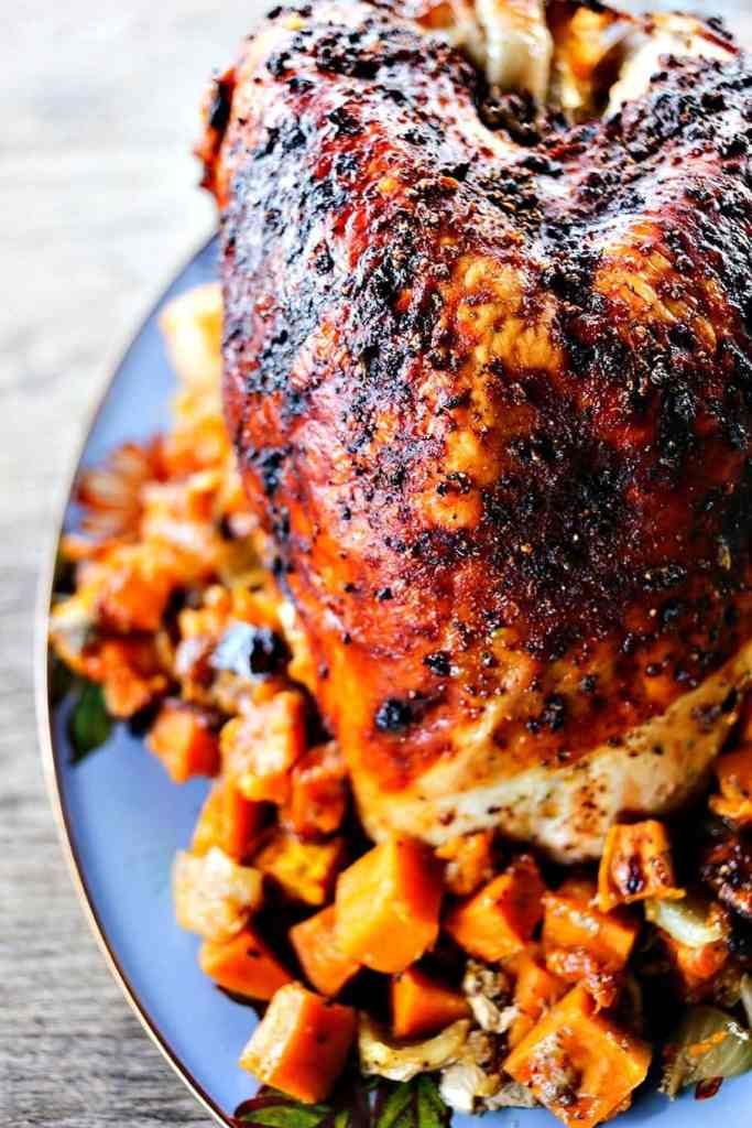 Pot Roast Turkey Breast with Sweet Potatoes {Foodie with Family}