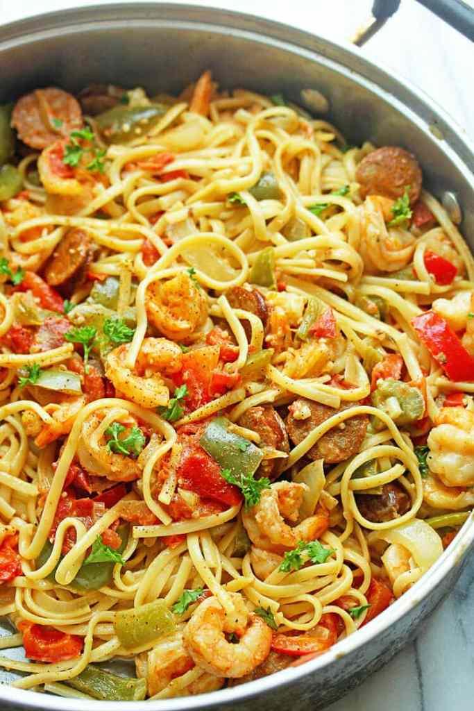 Cajun Shrimp Pasta {Grandbaby Cakes}