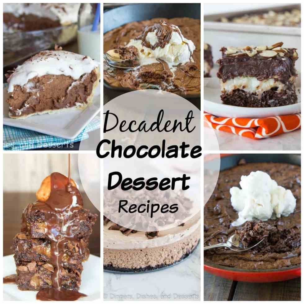 Decadent Chocolate Dessert Recipes - 17 chocolate recipes that are perfect for your Valentine's Day or any chocolate craving that may strike.