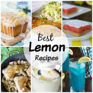 20 Lemon Recipes - pucker up it is citrus season! Here are 20 of my favorite lemon recipes; everything from dinner to drinks to desserts!