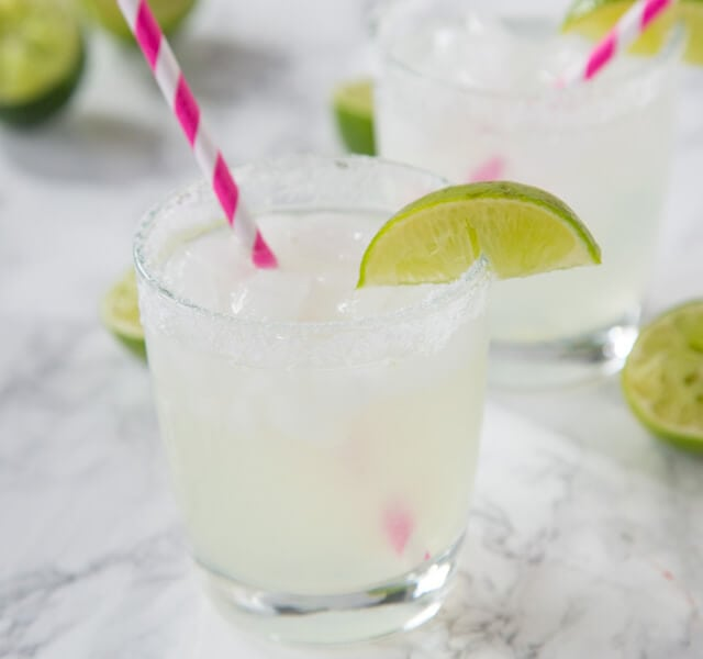 Classic Lime Margarita on the Rocks