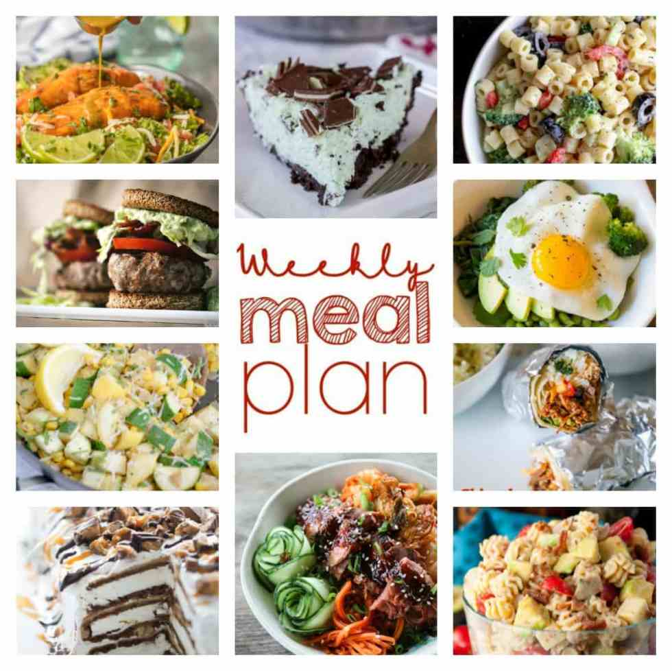 Weekly Meal Plan Week 96 - 10 great bloggers bringing you a full week of recipes including dinner, sides dishes, and desserts!