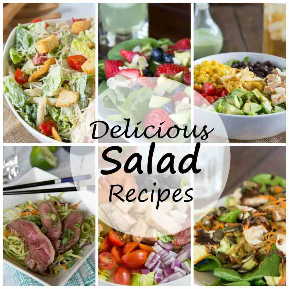 Salad Recipes - 13 Salad Recipes that are healthy, but still satisfy. You don't have to feel like you are dieting to get your veggies and eat healthy!