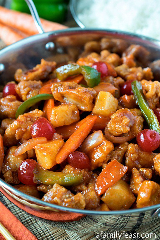 Sweet and Sour Chicken {A Family Feast}