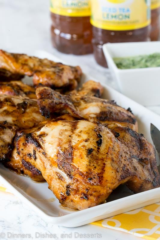 grilled chicken on a tray