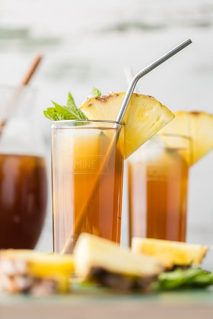 Skinny Pineapple Sweet Tea {The Cookie Rookie}