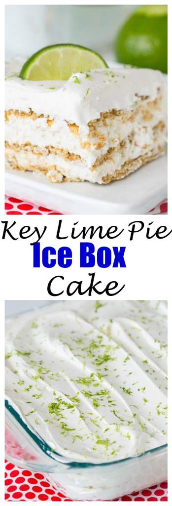 Key Lime Pie Ice Box Cake - Everything you love about a sweet, tart, creamy key lime pie in a no bake ice box cake!