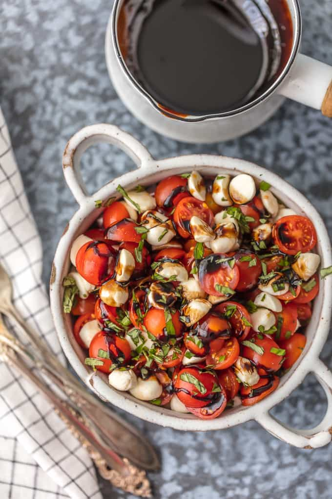 Chopped Caprese Salad {The Cookie Rookie}