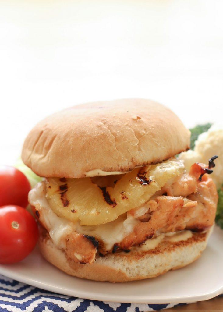 Hawaiian Chicken Sandwiches {Barefeet in the Kitchen}