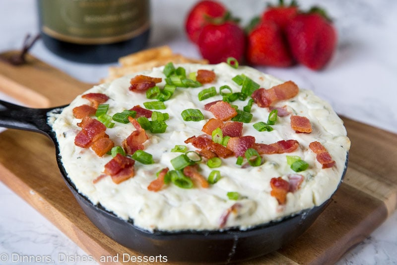 How to make cheese dip - a baked blue cheese dip