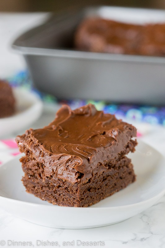 From scratch brownies that are fudgy, chocolatey, and delicious