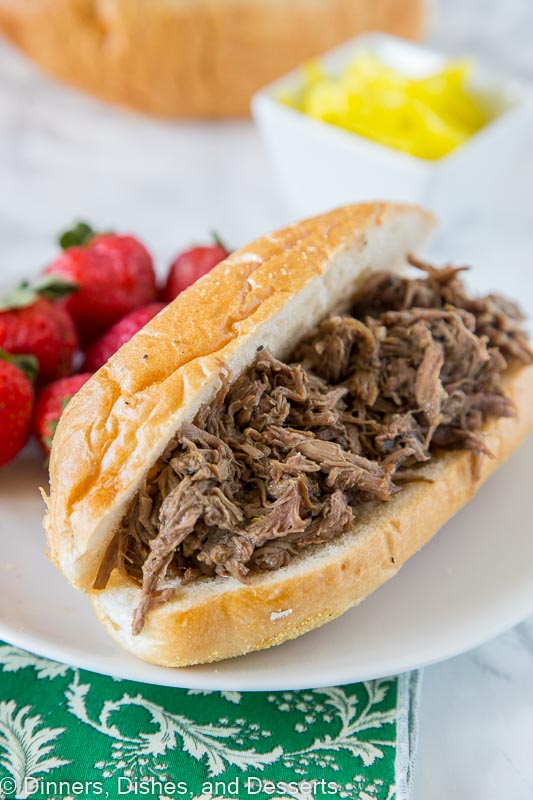 Italian Beef Sandwich - tender and juicy Italian Beef makes for a great weeknight meal.