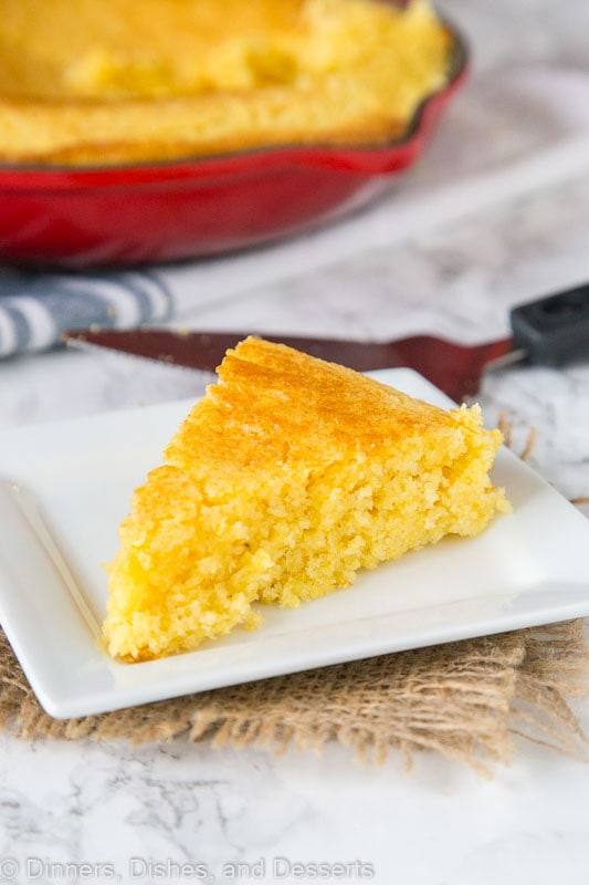 Cornbread - sweet cornbread recipe that is great in a skillet or made into muffins