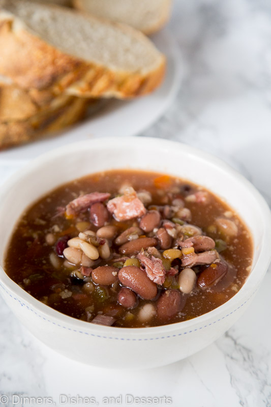 Ham and Bean Soup -a hearty bean soup that is easy to make!