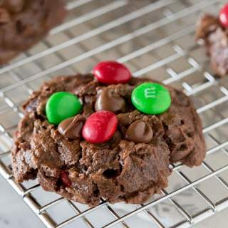 Soft Double Chocolate Chip Cookies - super soft and tender chocolate cookies that will literally melt in your mouth. 3 kinds of chocolate to make them extra delicious!