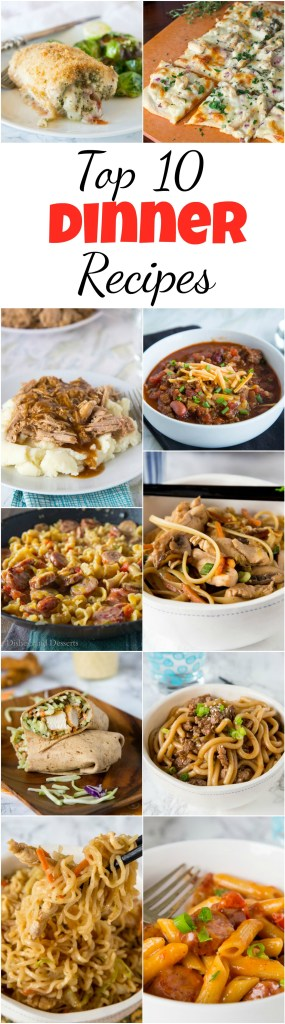 Top 10 Dinner Recipes - Find the 10 most viewed Easy Dinner Recipes on the blog of 2017. Asian, Mexican, Chicken, Beef; we have it all covered. And they are all easy, fast, and kid friendly!