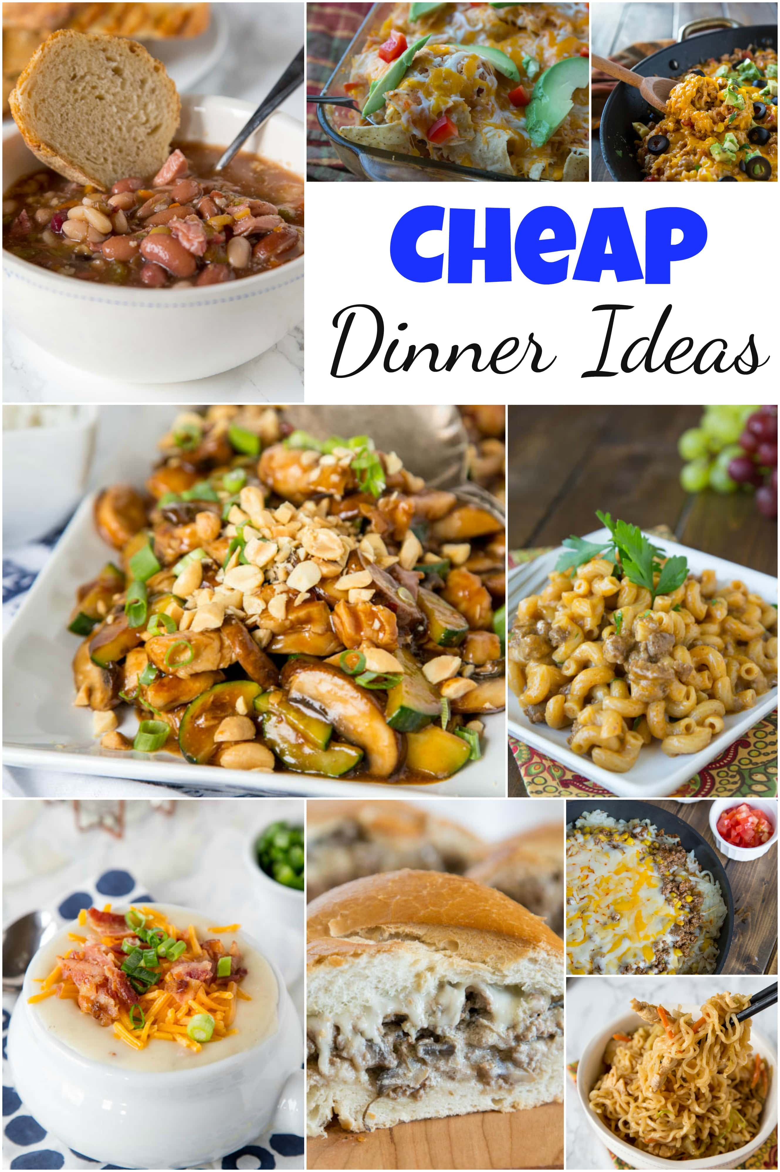 Simple Cheap Meals Dinner