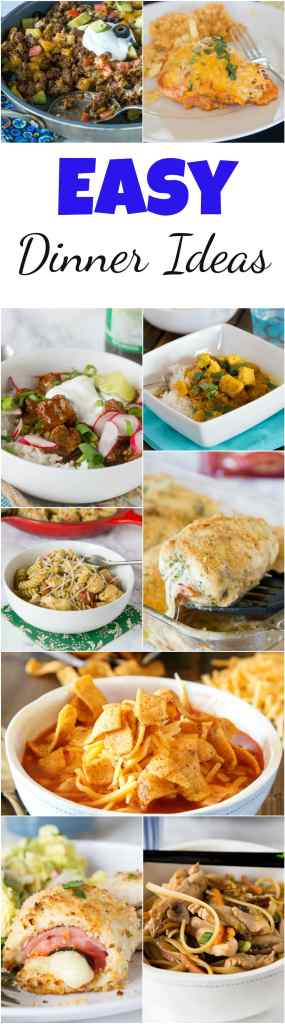 Easy Dinner Ideas - not sure what to make for dinner? Don't want to spend forever cutting, chopping, and  figuring out a recipe?  Here are 20 super easy dinner recipes to get you through the week! #dinnerideas #dinner #dinnerrecipes #easyrecipes #food