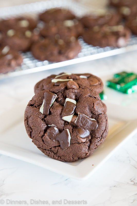 Cake Mix Cookies - andes mint cookies