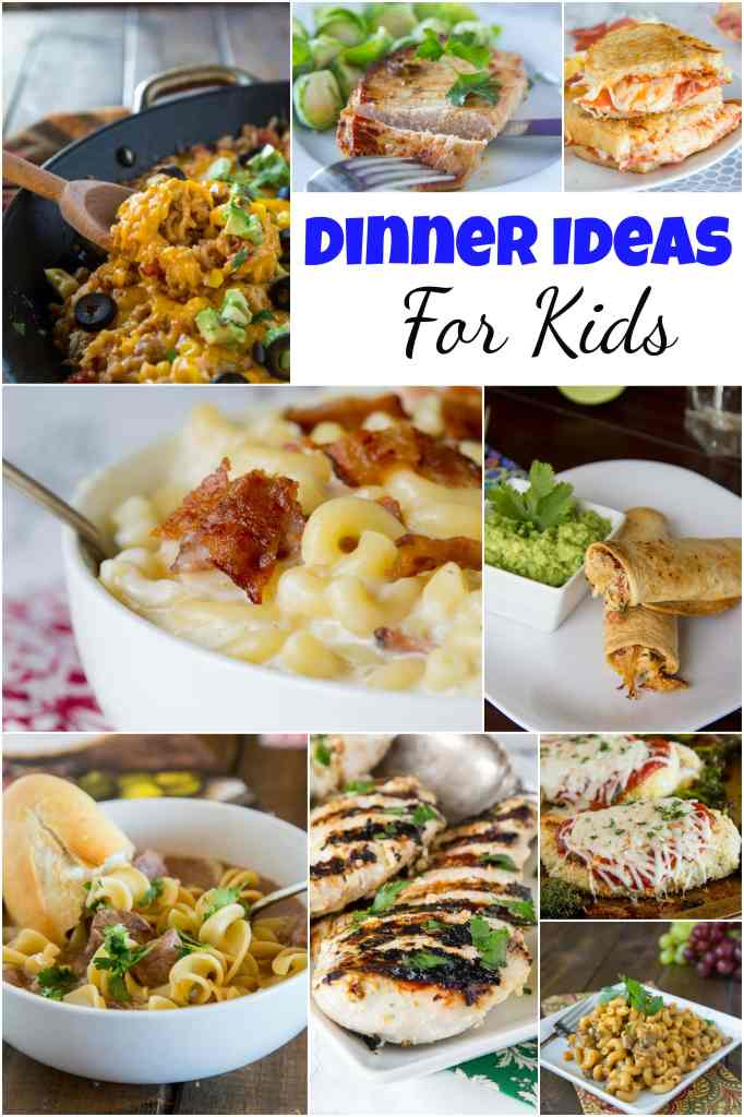 dinner ideas for kids collage