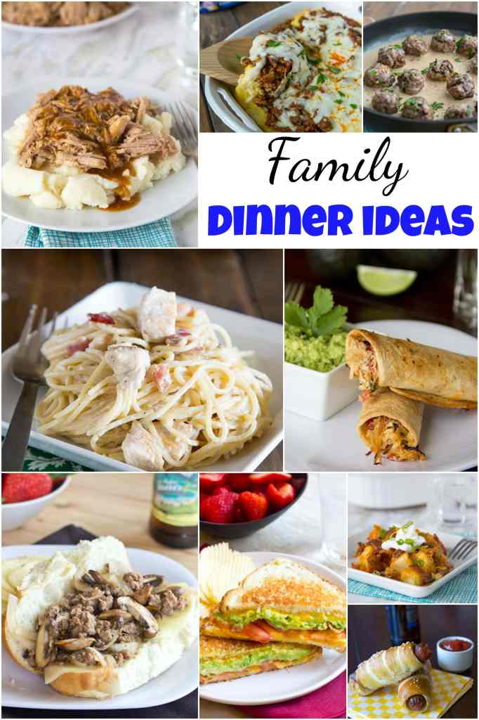 family dinner ideas collage