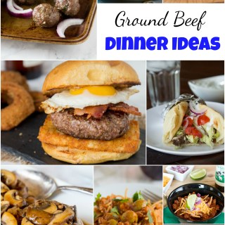 Ground Beef Dinner Ideas - Have a ground beef, and wondering what to make with it?  Here are 25 of my favorite ground beef dinner ideas. More than just tacos or meatloaf!