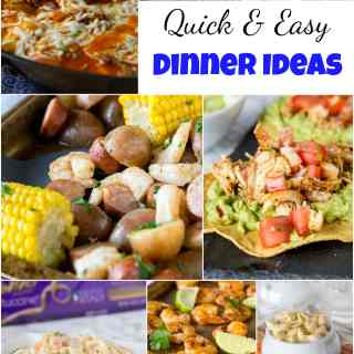 Quick and Easy Dinner Ideas - Get dinner on the table quickly with these dinner recipe ideas. Great for busy weeknights when you only have a few minutes to prep and get dinner ready! #dinnerideas #dinner #quickandeasy #cooking #food #recipe