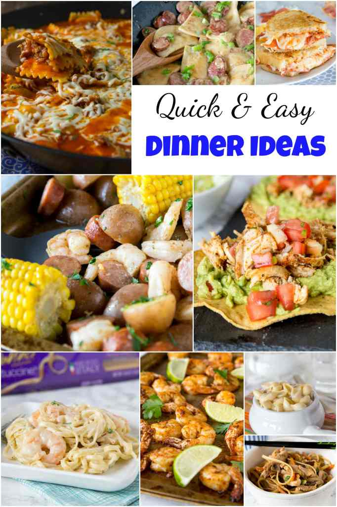 Quick and Easy Dinner Collage