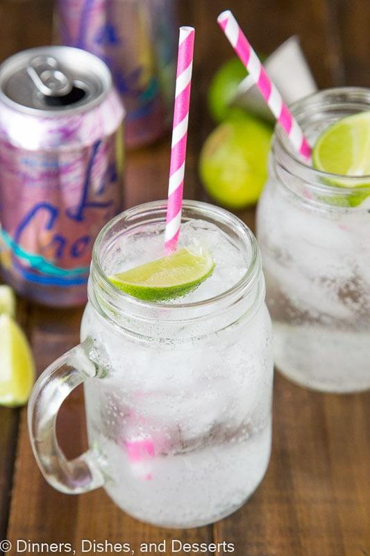Vodka and Soda with Berry La Croix
