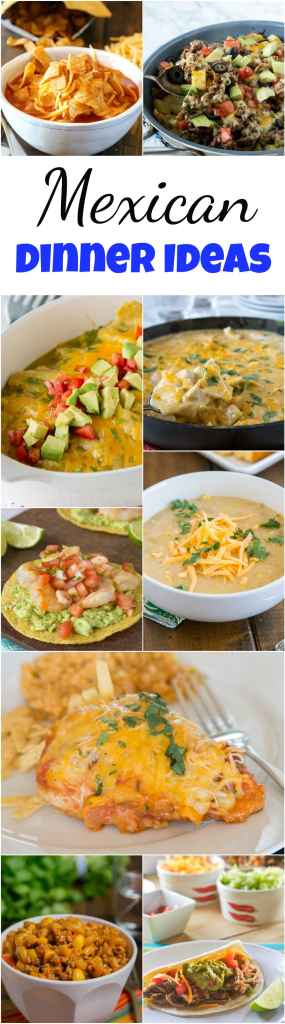 Mexican Dinner ideas collage