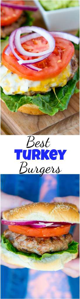 Best Turkey Burger Recipe - make your turkey burgers super juicy and tender with this foolproof recipe. Perfect for grilling season or even in the middle of winter.