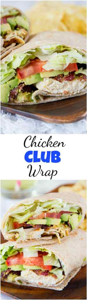 Chicken Club Wrap Recipe - turn a classic chicken club sandwich into an easy chicken wrap for any day of the week. Great to take to work, make for dinner, picnics, or just about anything