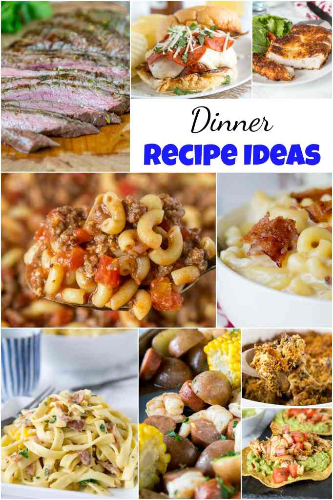 Dinner Recipe Ideas - Need some new ideas to mix up dinner?  Here are 25 easy, fast, and great dinner recipes that will liven up your week! #dinnertime #dinnerisserved #dinnerrecipes #dinnerideas #roundup #food #recipes