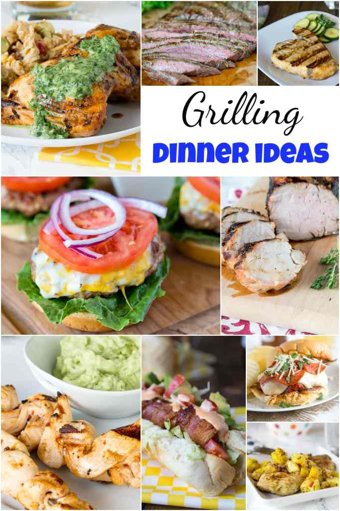 A bunch of different types of food on a plate, with Dinner and Grilling