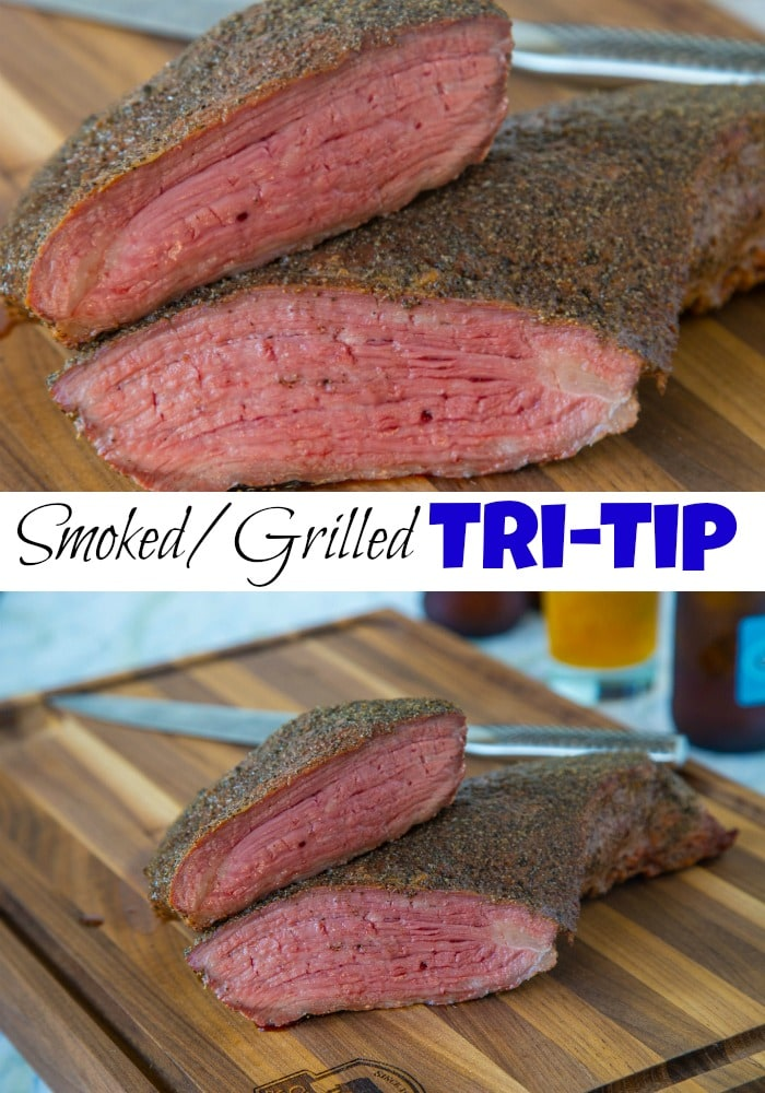 Smoked Tri Tip - a perfectly smoked cut of meat is a gorgeous thing! This Tri tip is coated in a quick and easy rub, and then smoked to perfection!
