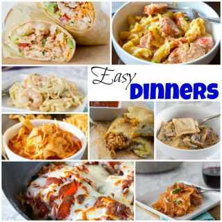 Easy Dinners - get dinner on the table without much work with these Easy Dinners. The whole family will be happy and you can skip the take out.