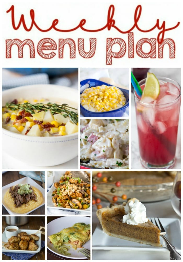 Weekly Meal Plan Week 175 - Make the week easy with this delicious meal plan. 6 dinner recipes, 1 side dish, 1 dessert, and 1 fun cocktail make for a tasty week!