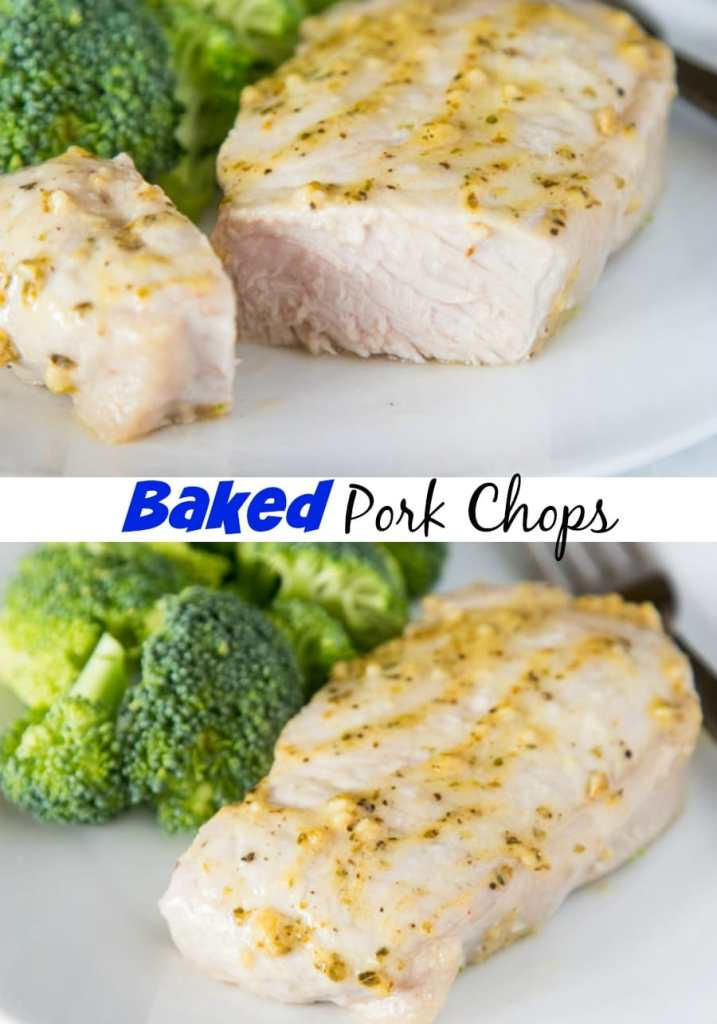 Oven Baked Pork Chop Recipe -juicy pork chops that are seasoned and baked to perfection. Quick and easy for those busy weeknights.