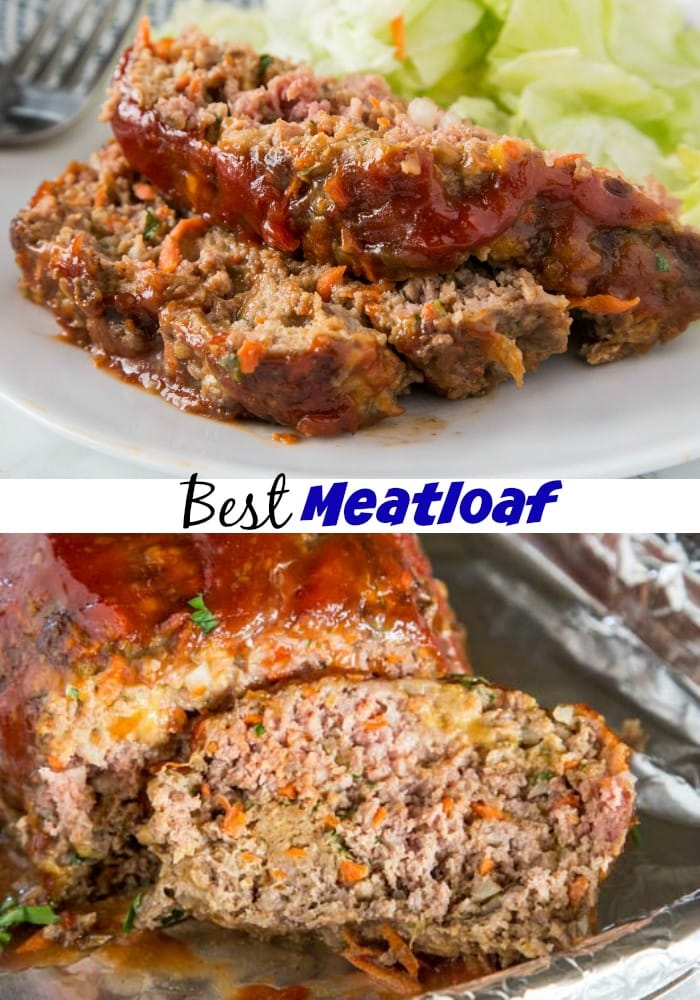 Best Meatloaf Recipe - this is not your mom's meatloaf. This is moist, tender, and delicious! Great to make ahead and for those picky eaters!